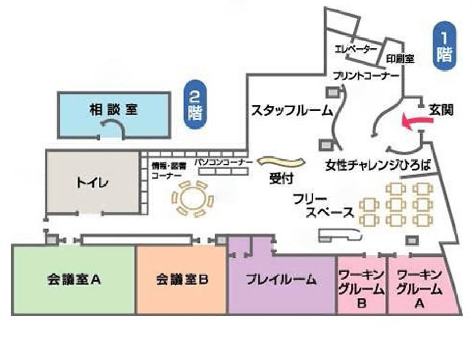 センター館内マップ